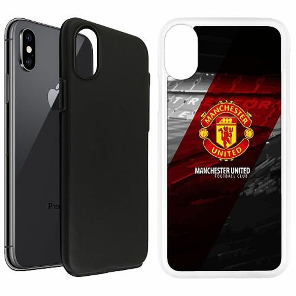 Apple iPhone X / XS Duo Case Vit Manchester United FC