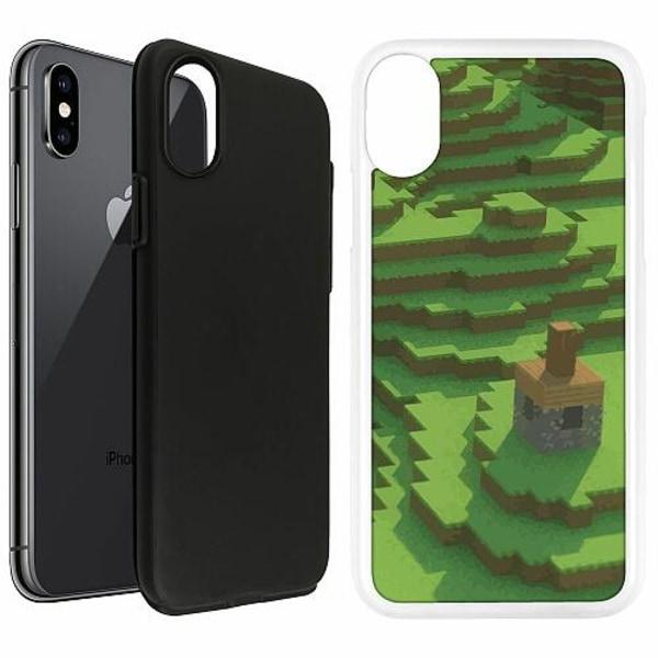 Apple iPhone X / XS Duo Case Vit MineCraft