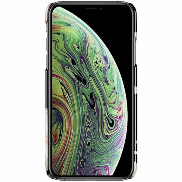Apple iPhone X / XS LUX Mobilskal (Glansig) Floral Pattern Black