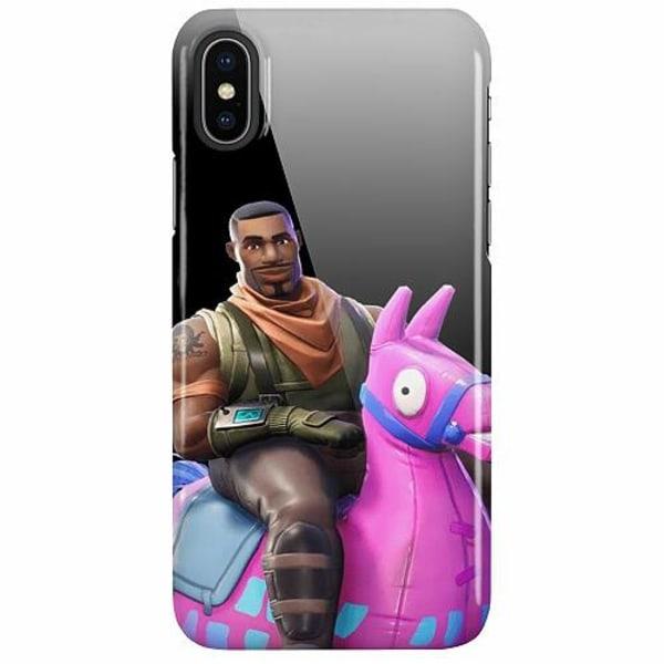 Apple iPhone X / XS LUX Mobilskal (Glansig) Fortnite Loot Llama