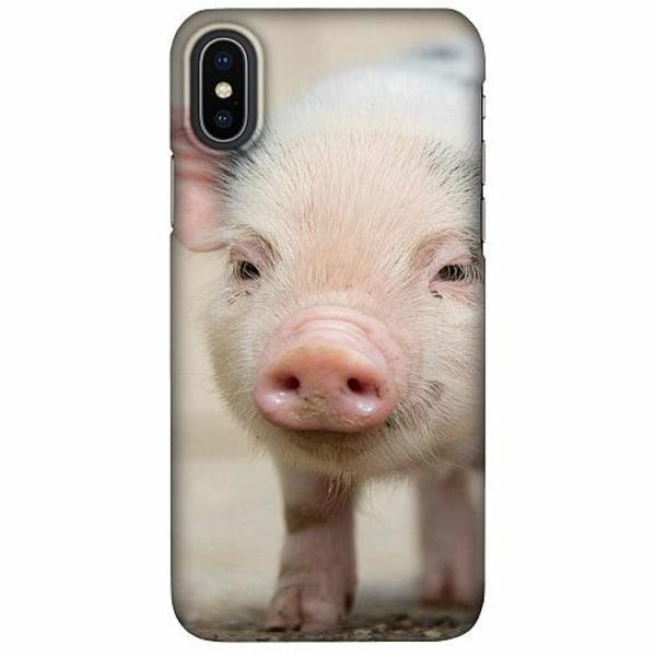 Apple iPhone X / XS LUX Mobilskal (Matt) Happy Pig