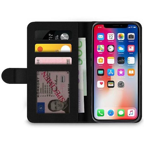 Apple iPhone X / XS Wallet Case Bokstäver