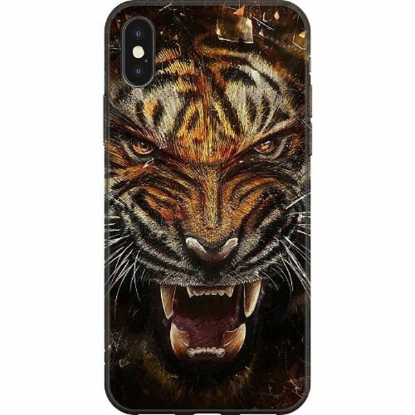 Apple iPhone X / XS Mjukt skal - Angry Tiger
