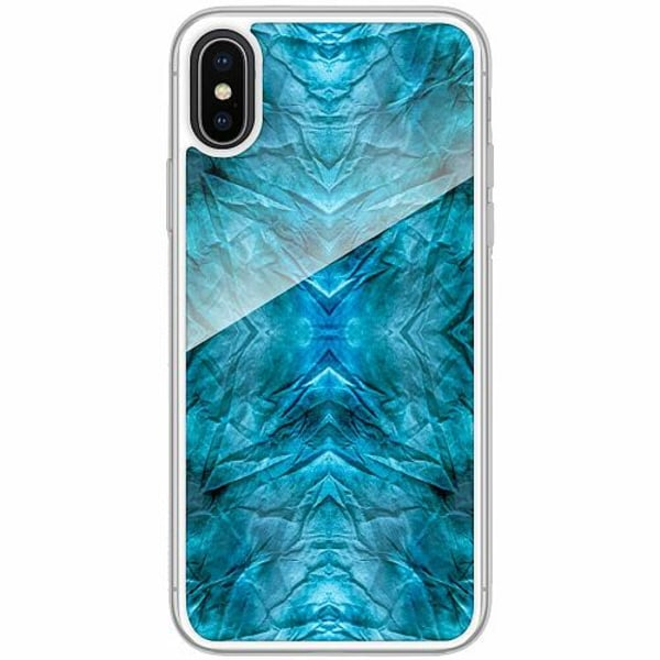 Apple iPhone X / XS Transparent Mobilskal med Glas Do You See