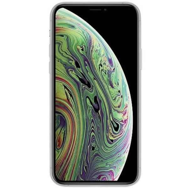 Apple iPhone X / XS Transparent Mobilskal med Glas Apelsin