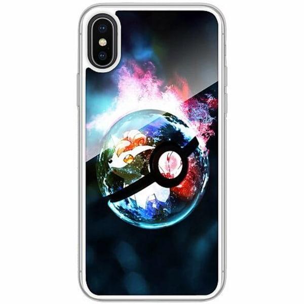 Apple iPhone X / XS Transparent Mobilskal med Glas Pokemon