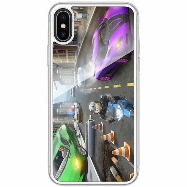 Apple iPhone X / XS Transparent Mobilskal med Glas Roblox