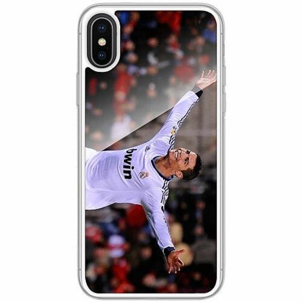 Apple iPhone X / XS Transparent Mobilskal med Glas Ronaldo