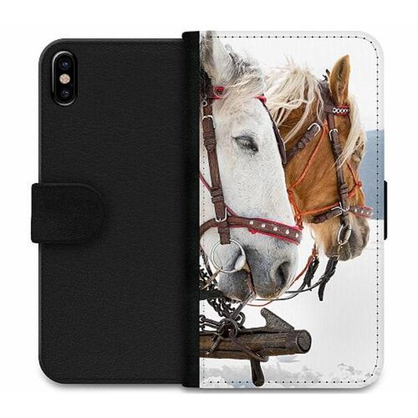 Apple iPhone X / XS Wallet Case Häst / Horse