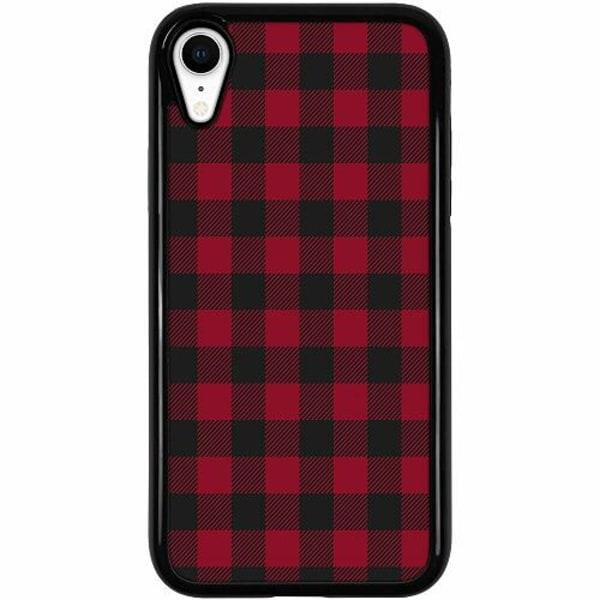 Apple iPhone XR Duo Case Svart Checkered Flannel