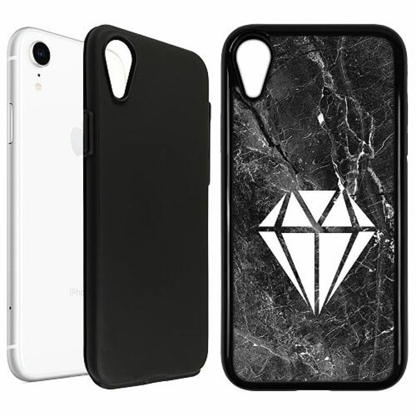 Apple iPhone XR Duo Case Svart Diamond