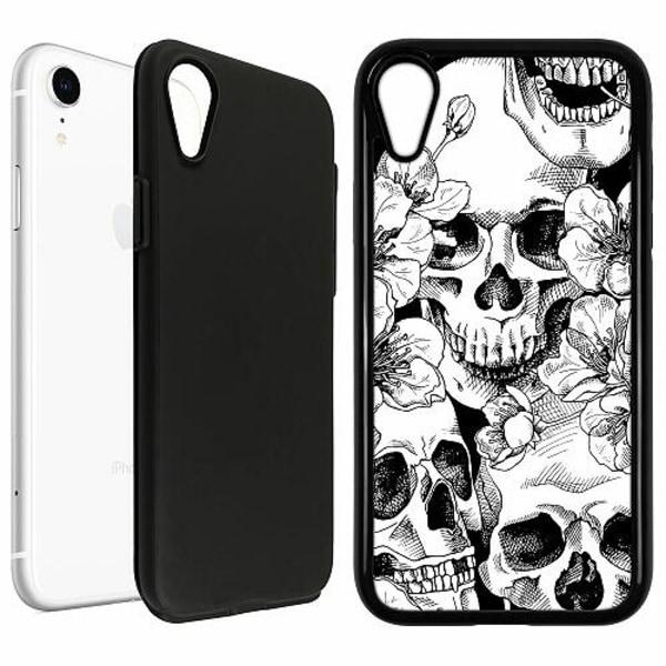 Apple iPhone XR Duo Case Svart Döskalle