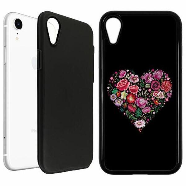 Apple iPhone XR Duo Case Svart HEARTIN'