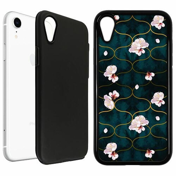Apple iPhone XR Duo Case Svart Japanese Garden