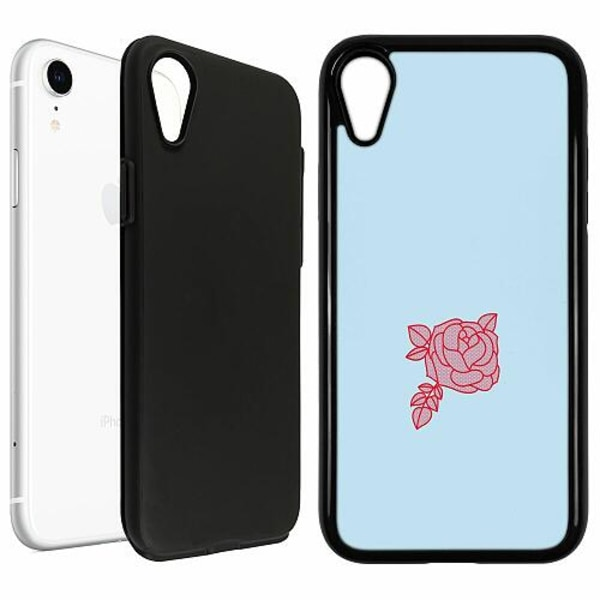 Apple iPhone XR Duo Case Svart Rose