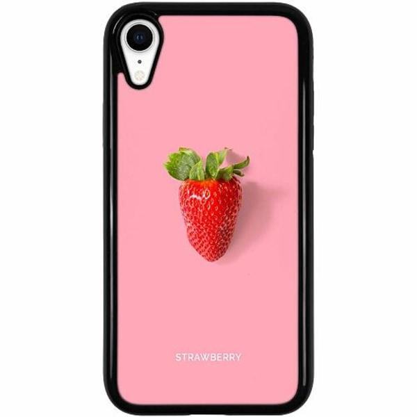 Apple iPhone XR Duo Case Svart Strawberry