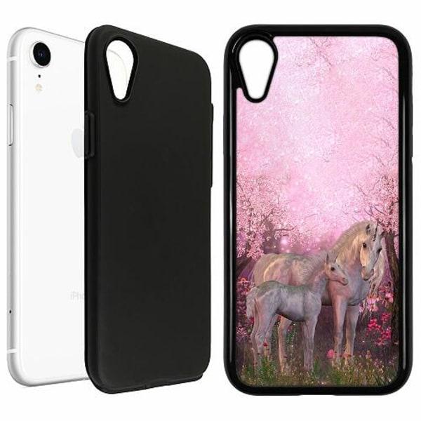 Apple iPhone XR Duo Case Svart Unicorn