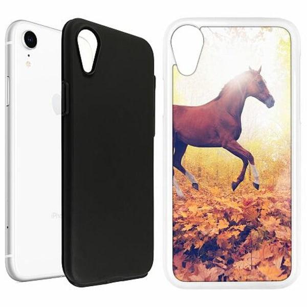 Apple iPhone XR Duo Case Vit Häst / Horse