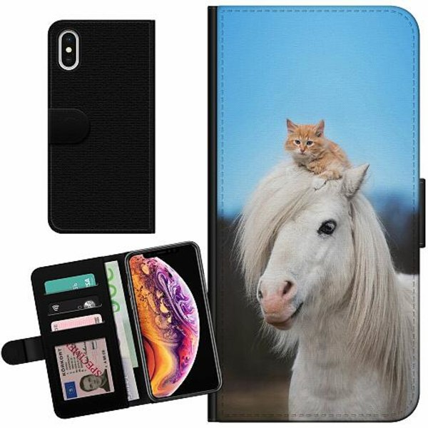 Apple iPhone XS Max Billigt Fodral Horse with CatHat