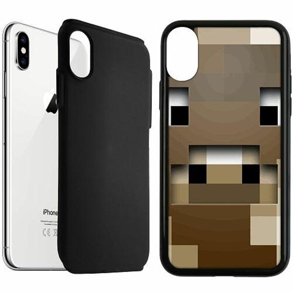 Apple iPhone XS Max Duo Case Svart MineCraft