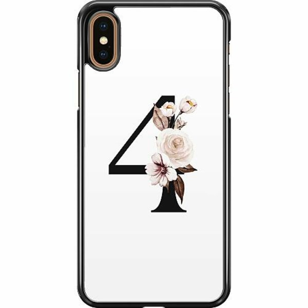 Apple iPhone XS Max Hard Case (Svart) Bokstäver
