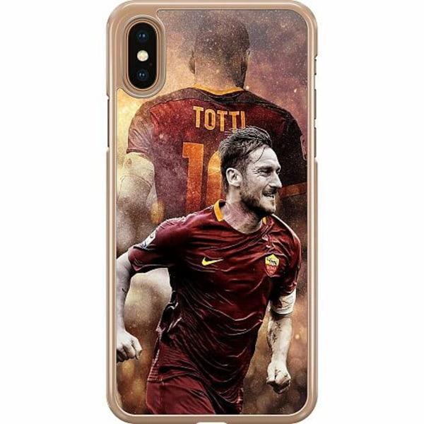 Apple iPhone XS Max Hard Case (Transparent) Francesco Totti