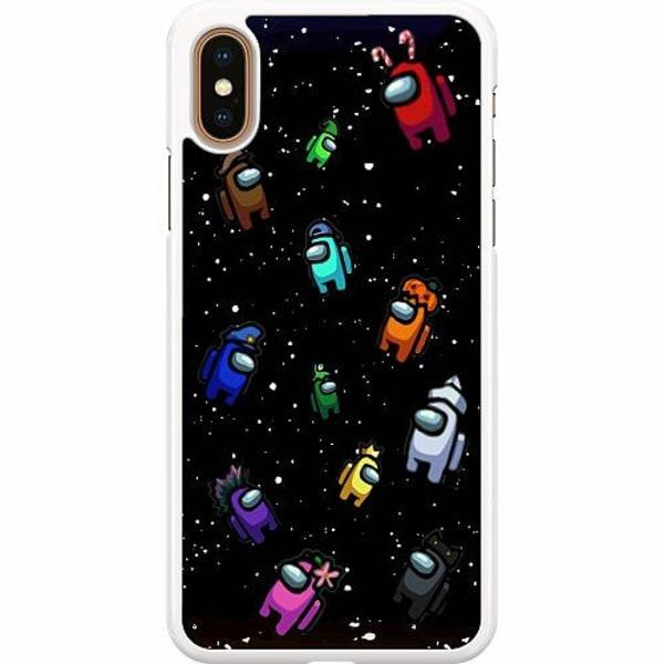 Apple iPhone XS Max Hard Case (Vit) Among Us