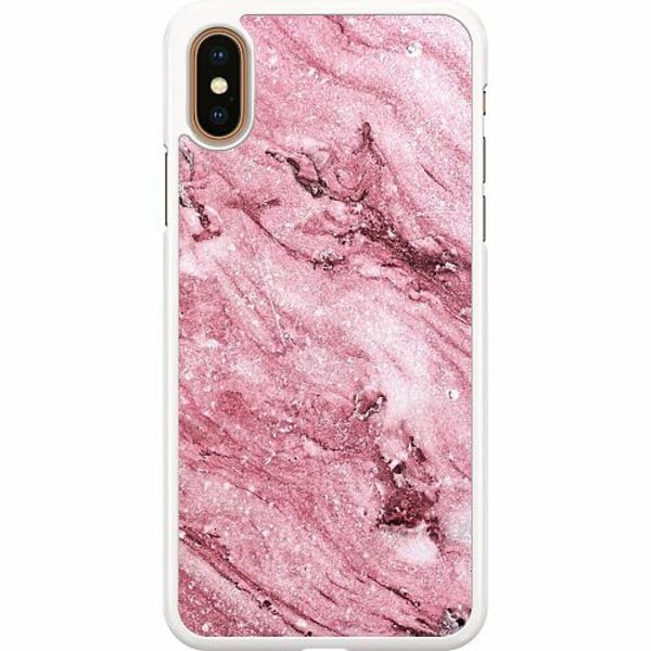 Apple iPhone XS Max Hard Case (Vit) Glitter Marble