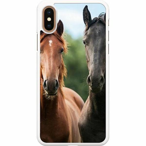 Apple iPhone XS Max Hard Case (Vit) Häst / Horse