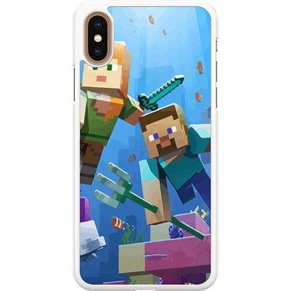 Apple iPhone XS Max Hard Case (Vit) MineCraft