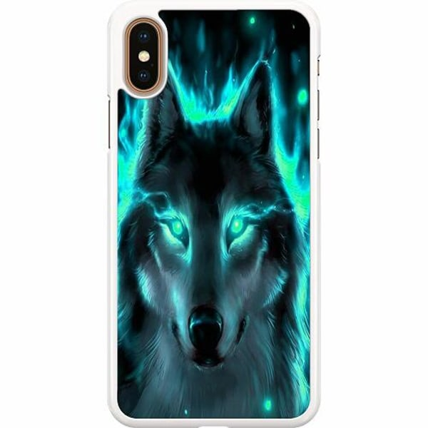 Apple iPhone XS Max Hard Case (Vit) Statement Wolf 1055
