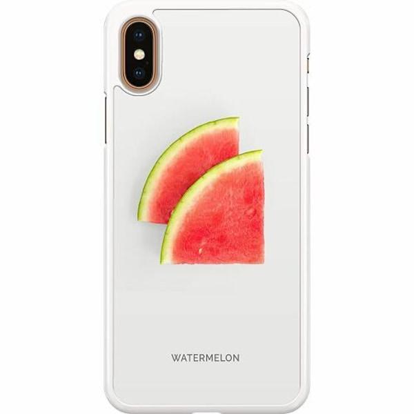 Apple iPhone XS Max Hard Case (Vit) Watermelon