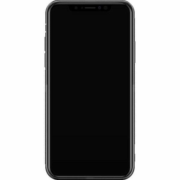 Apple iPhone XS Max Soft Case (Svart) Brushed Metal