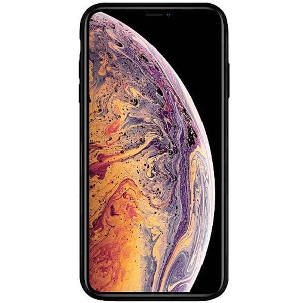 Apple iPhone XS Max Svart Mobilskal med Glas Metallic