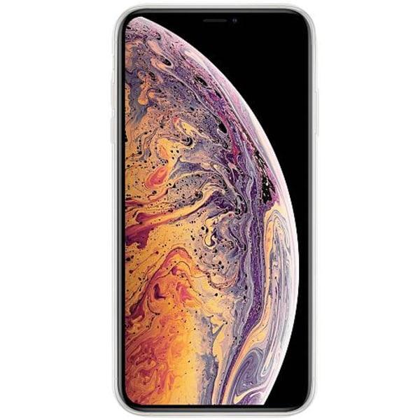 Apple iPhone XS Max Transparent Mobilskal med Glas Tempting Red