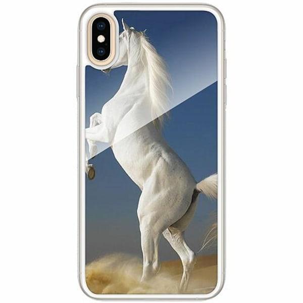 Apple iPhone XS Max Transparent Mobilskal med Glas Häst / Horse