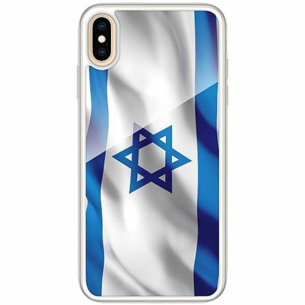 Apple iPhone XS Max Transparent Mobilskal med Glas Israel