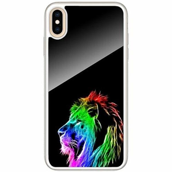 Apple iPhone XS Max Transparent Mobilskal med Glas Lion