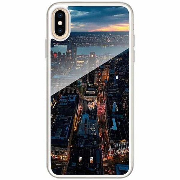 Apple iPhone XS Max Transparent Mobilskal med Glas Pattern