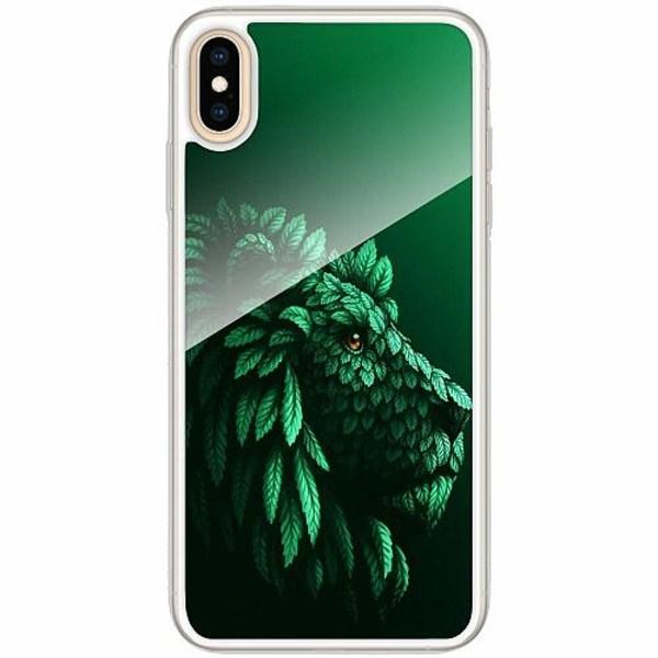 Apple iPhone XS Max Transparent Mobilskal med Glas Vegan Lion