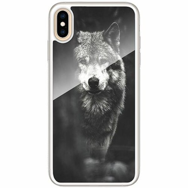 Apple iPhone XS Max Transparent Mobilskal med Glas Wolf / Varg
