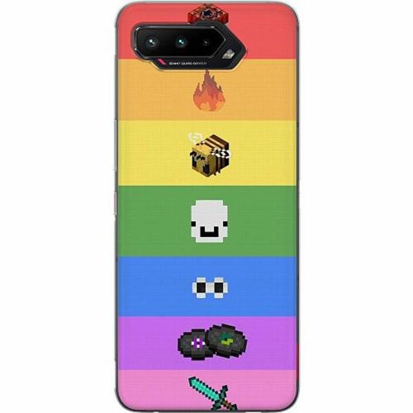 Asus ROG Phone 5 Thin Case MineCraft Rainbow