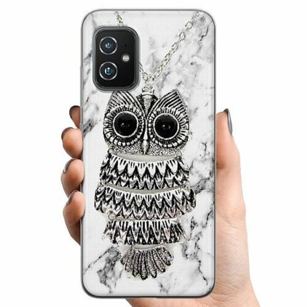 Asus Zenfone 8 TPU Mobilskal Marmor Uggla