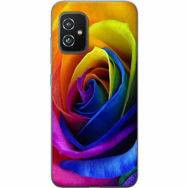 Asus Zenfone 8 TPU Mobilskal Rainbow Rose