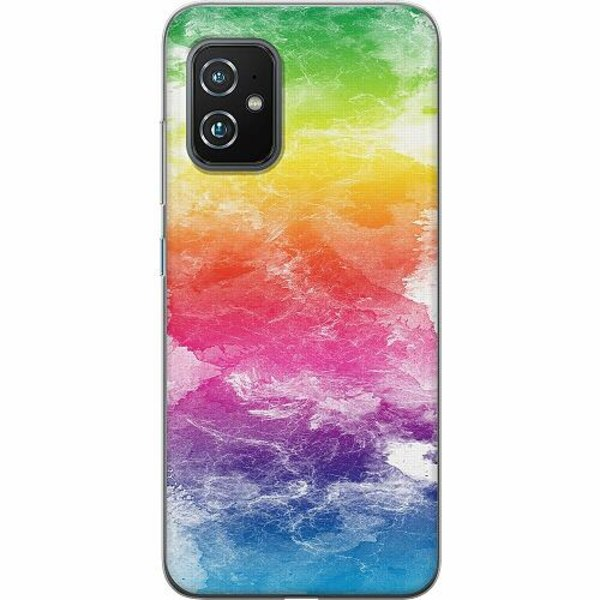 Asus Zenfone 8 TPU Mobilskal Watercolor Fade