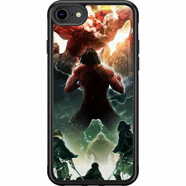 Apple iPhone 7 Soft Case (Svart) Attack On Titan