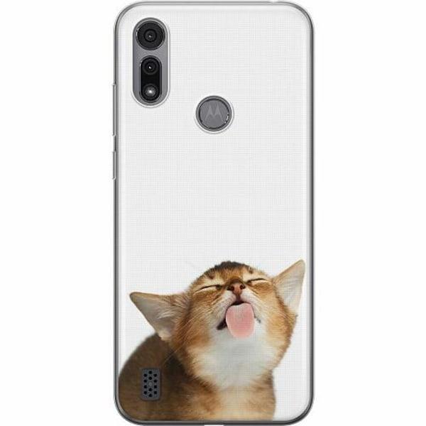 Motorola Moto E6i Thin Case Cat Keeps You Clean