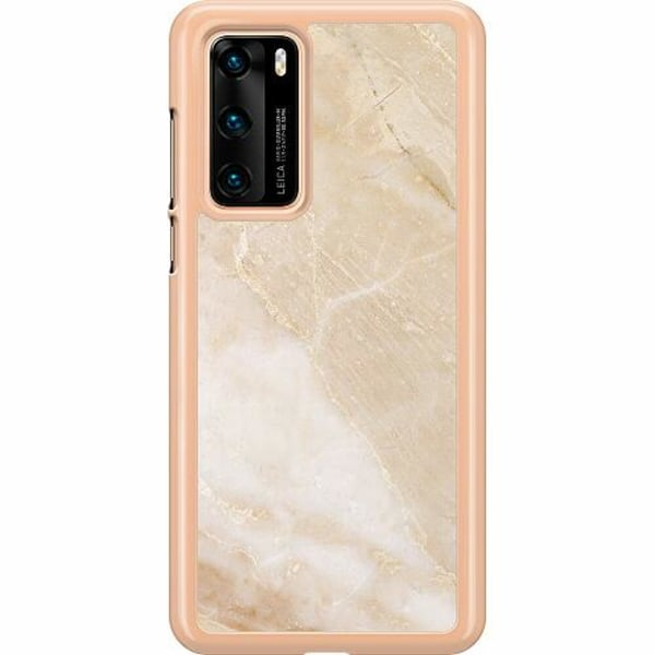 Huawei P40 Hard Case (Clear) More Marble