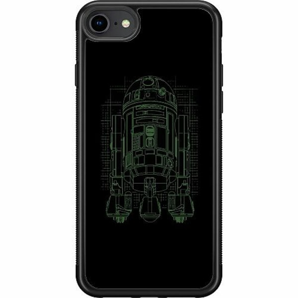 Apple iPhone 7 Soft Case (Svart) r2d2