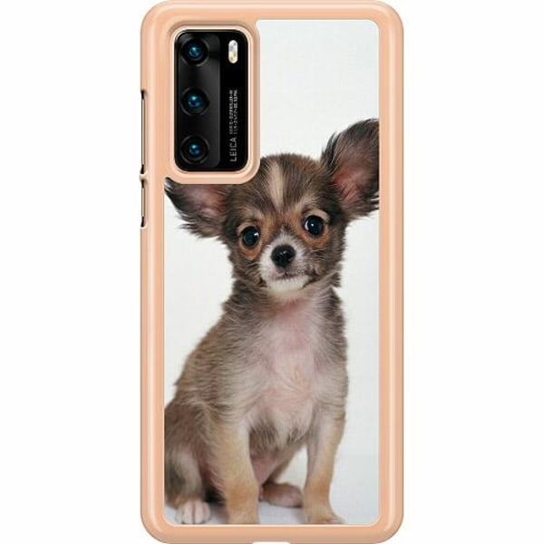 Huawei P40 Hard Case (Clear) Chihuahua